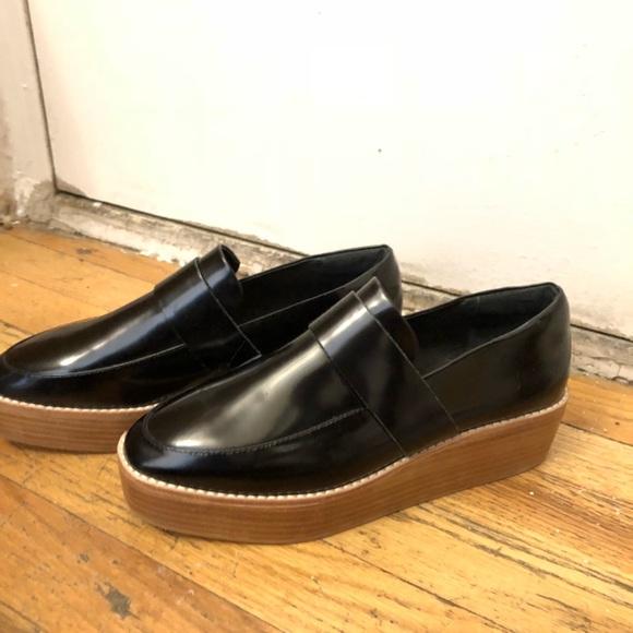 Sol Sana Shoes | Black Platform Loafers